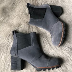 Sorel Chelsea Ankle Boots Grey Suede 6 37